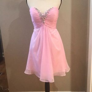 ALYCE PROM /HOMECOMING SHORT PINK STRAPLESS DRESS